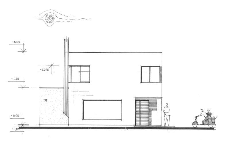 Solitérní dům Ve Vinoři - typ b5 – skica