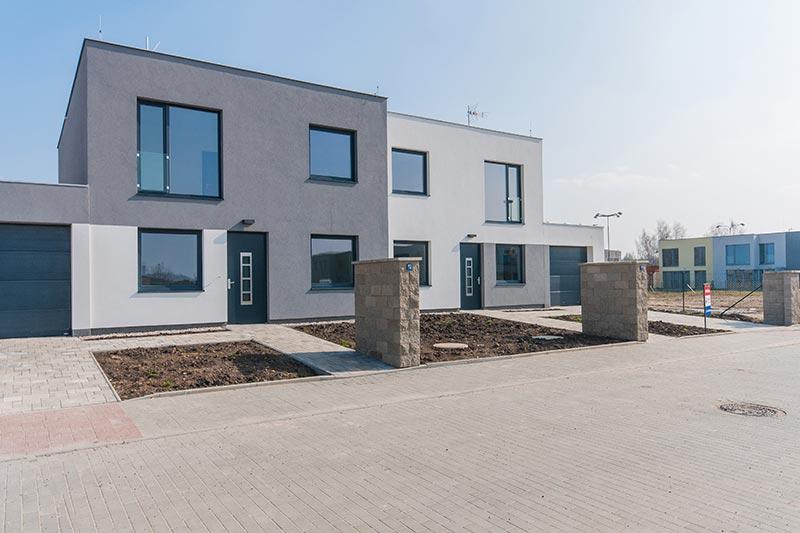 Řadové domy Vinoř - typ A - exterier