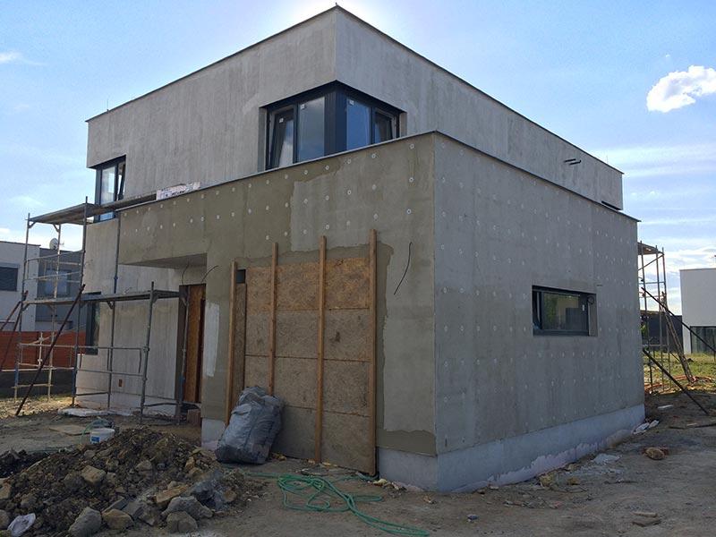 Solitérní dům Ve Vinoři - typ b5 – výstavba